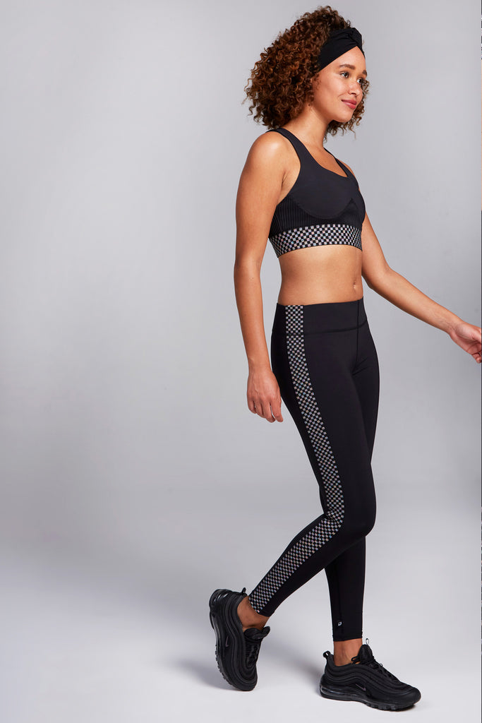 Glitter Checker Tall Band Leggings