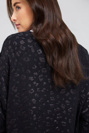 Black Cheetah Foil Sweatshirt