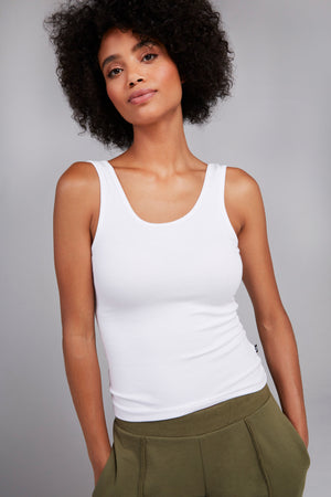 Super Rib Tank in White