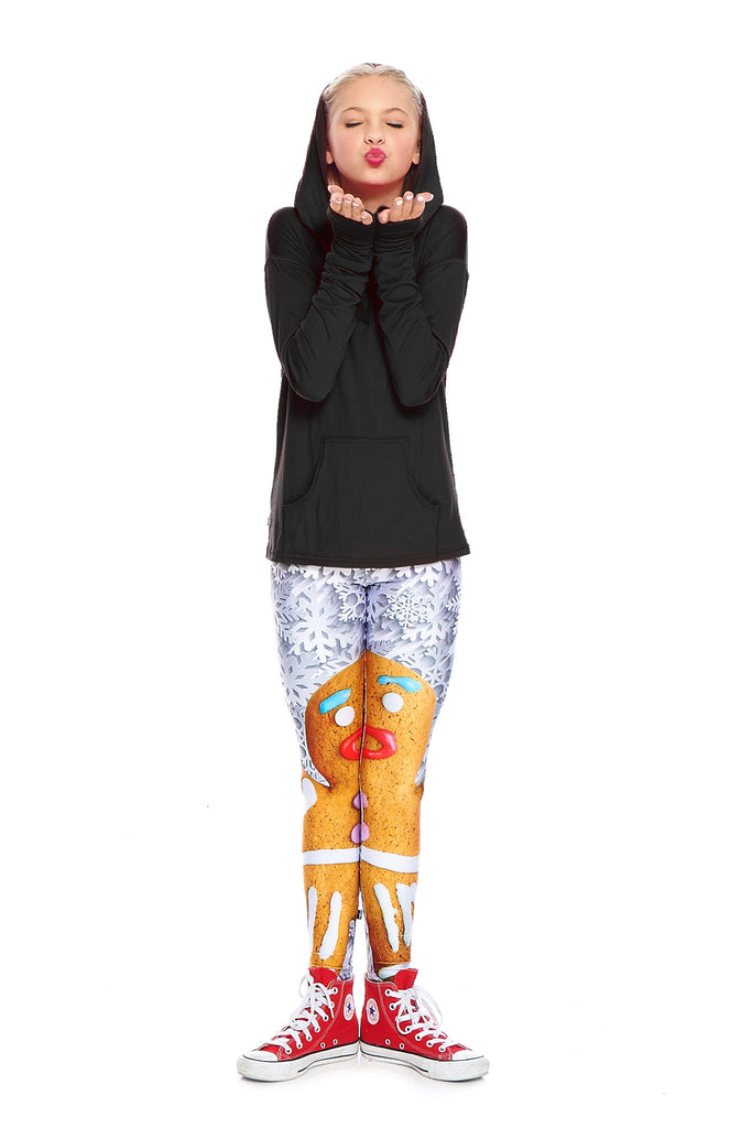 Girls Gingerbread Woman Leggings by Terez - 1