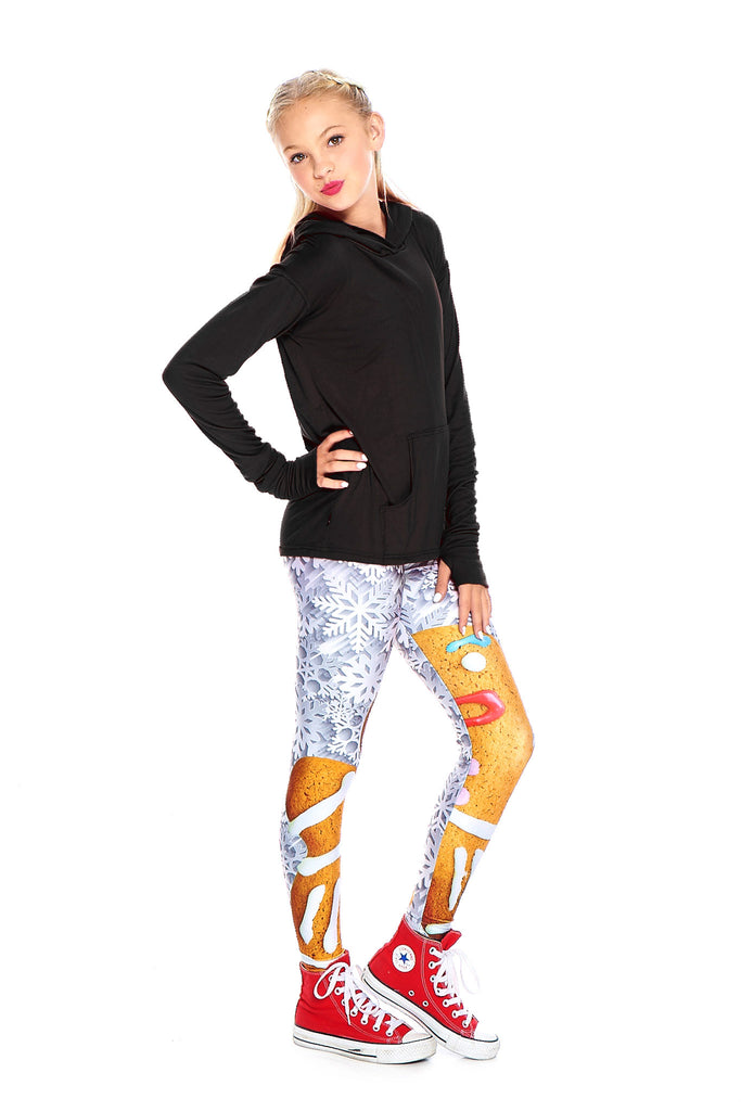 Girls Gingerbread Woman Leggings by Terez - 2