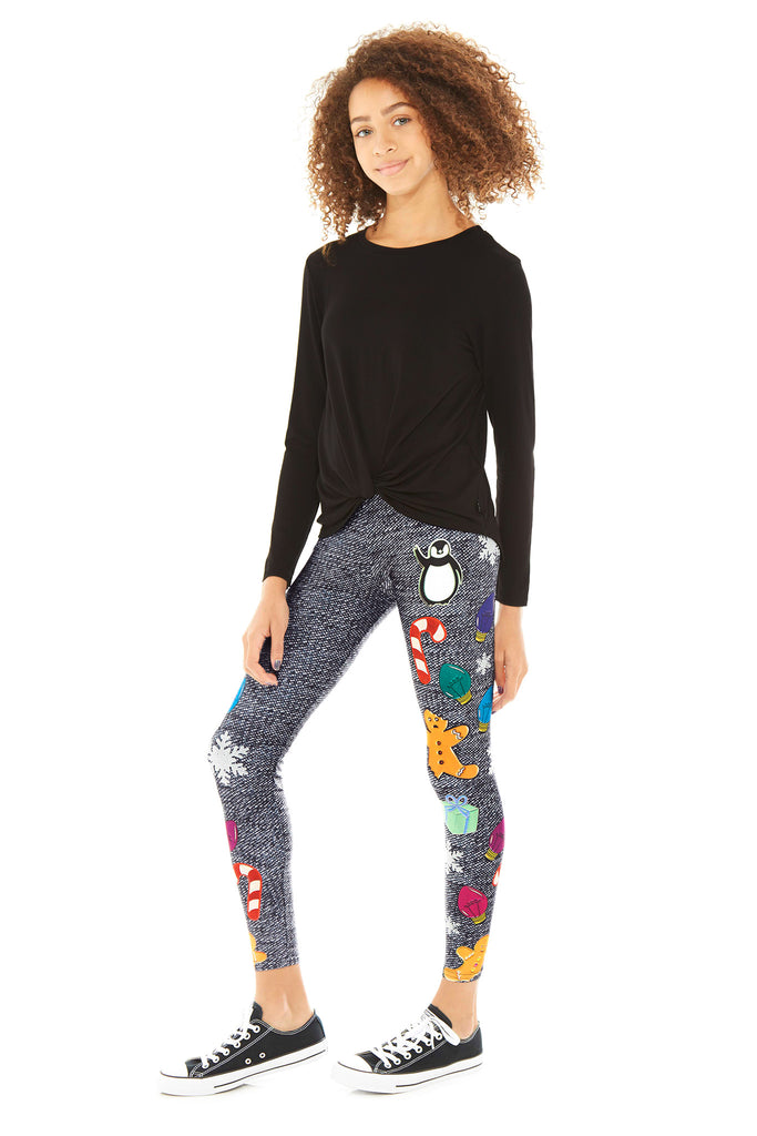 Girls Holiday Chatchkas Leggings by Terez
