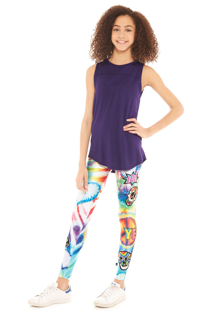 Girls LOL Tie Dye Leggings by Terez