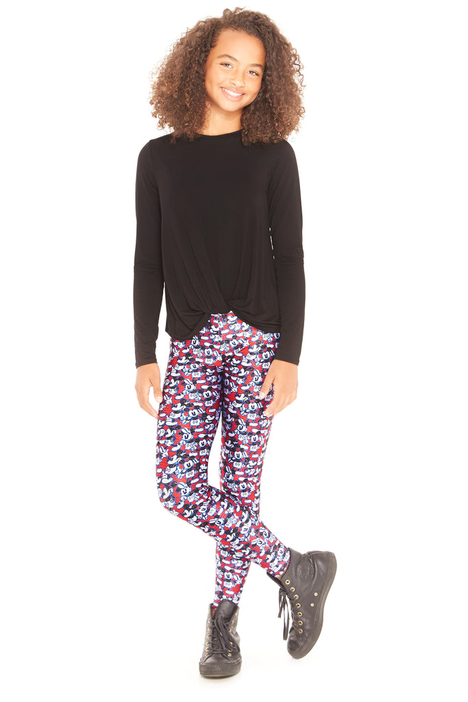 Girls Mickey Mouse Says Thumbs Up Leggings by Terez