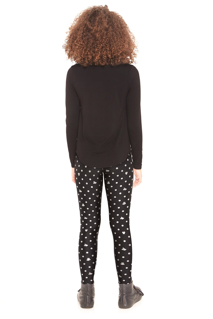Girls Mickey Mouse & Minnie Mouse Polka Dot Foil Leggings by Terez