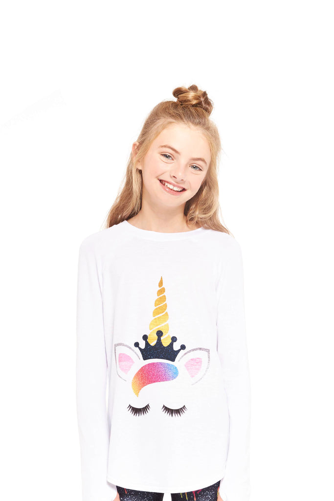 Girls Queen Unicorn Baseball T-Shirt by Terez