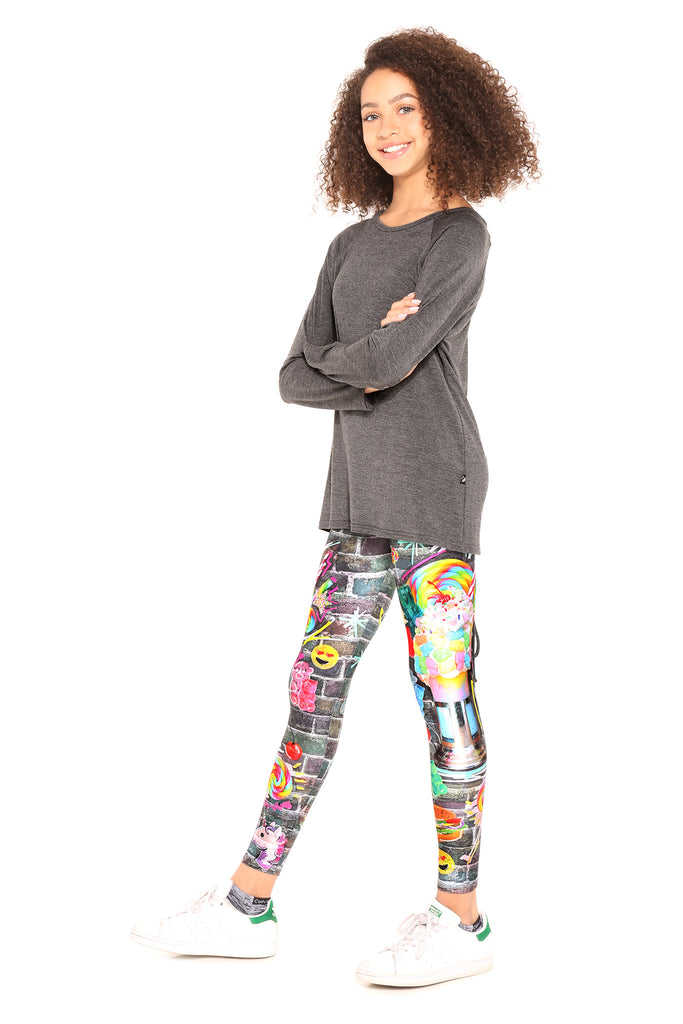 Girls Shake it Black Tap Leggings by Terez