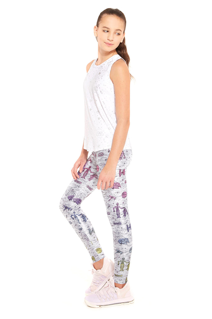 Girls Star Wars Doodle Leggings by Terez
