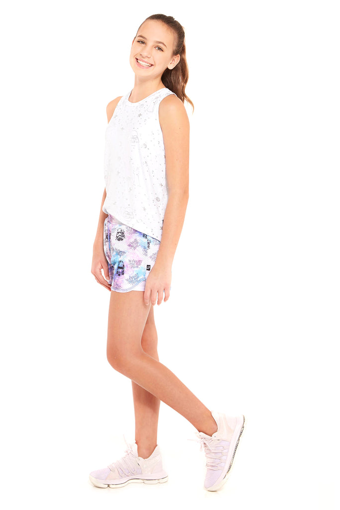 Girls Star Wars Galaxy Shorts by Terez