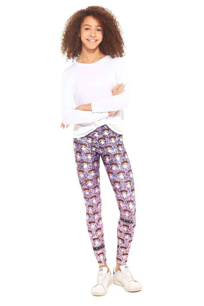 Girls Star Wars Princess Leia Glitter Leggings by Terez