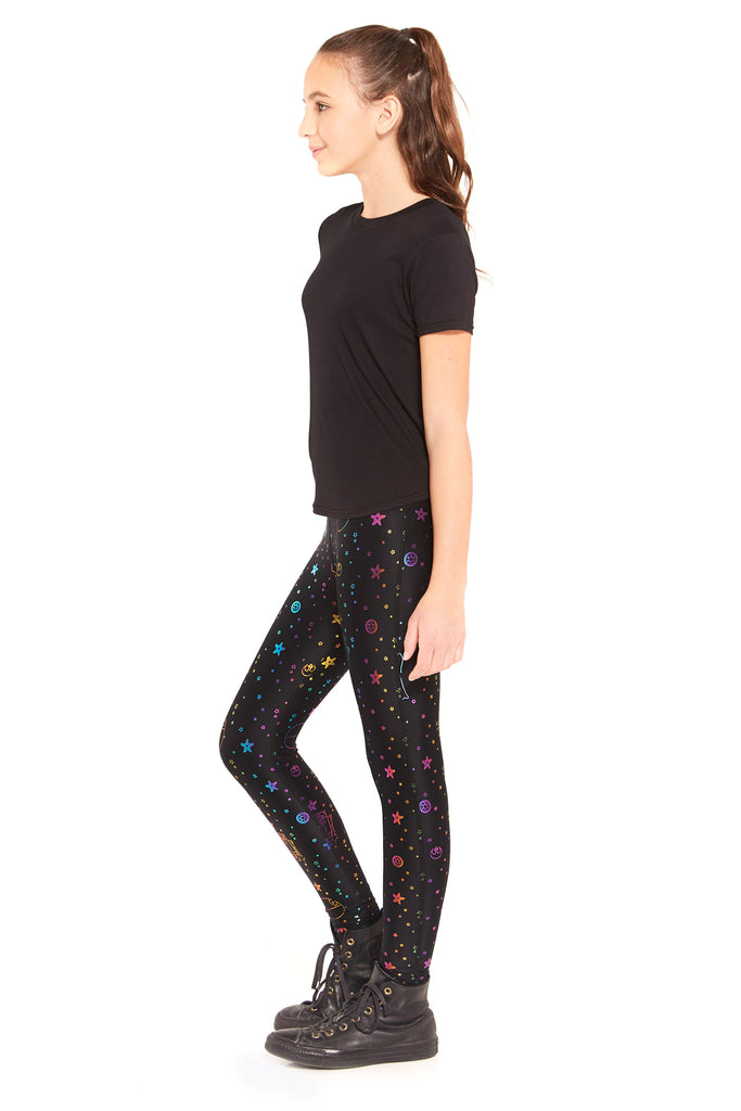 Girls Star Wars Rainbow Foil Leggings by Terez
