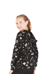 Girls Star Wars Rebel Galaxy Hologram Foil Hoodie by Terez
