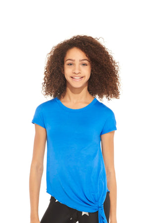 Girls Turquoise Tie Front T-Shirt by Terez