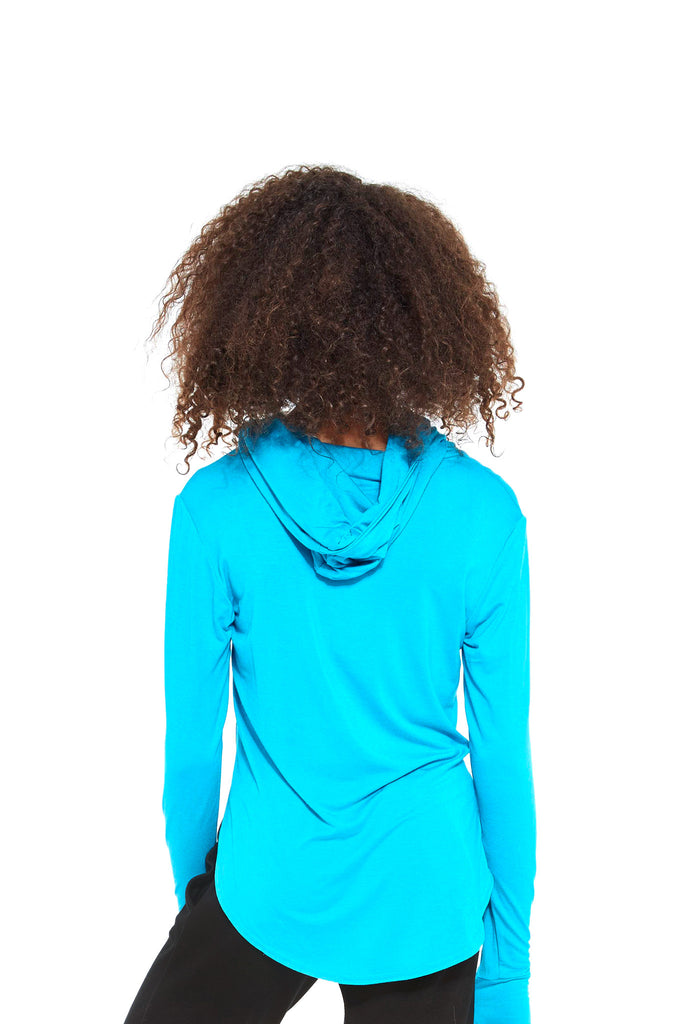 Girls Turquoise Hooded Long Sleeve by Terez