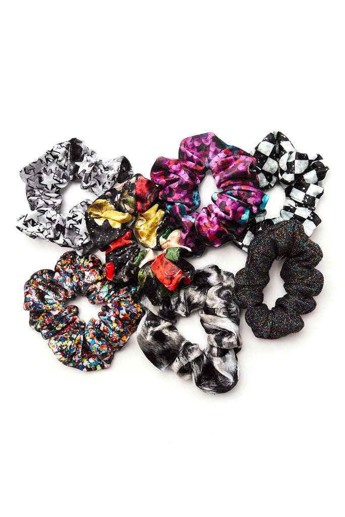 Glitter Check Scrunchie