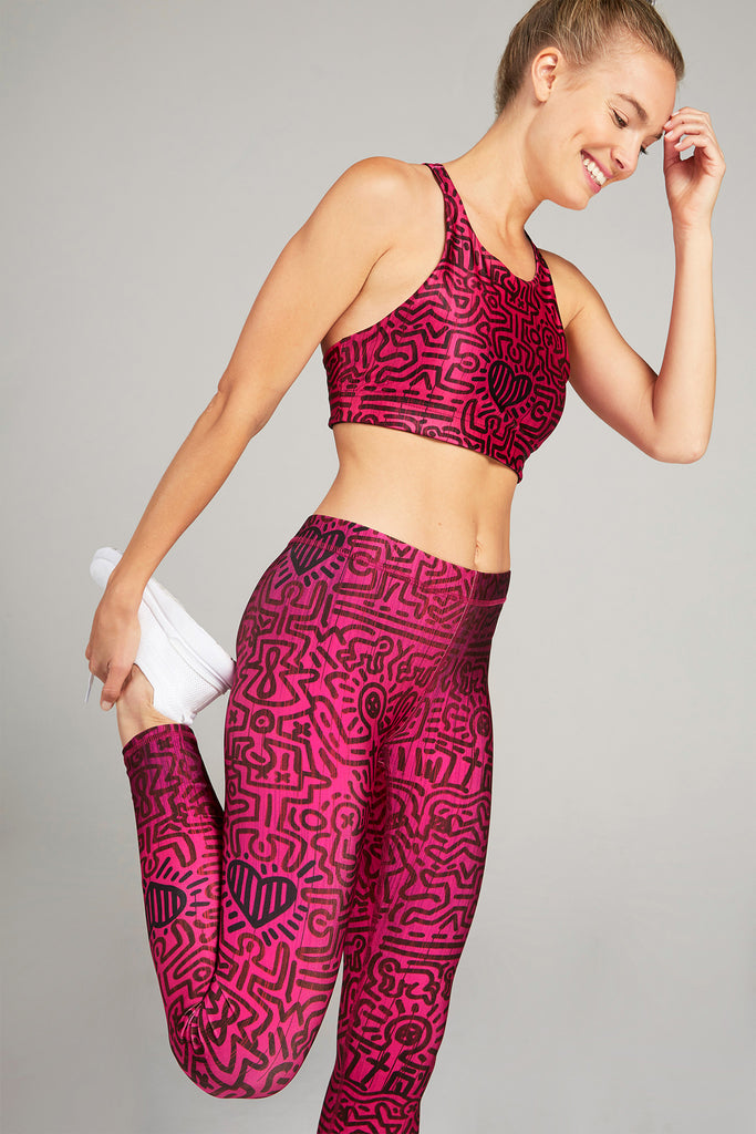 Keith Haring Hearts in Harmony Leggings by Terez