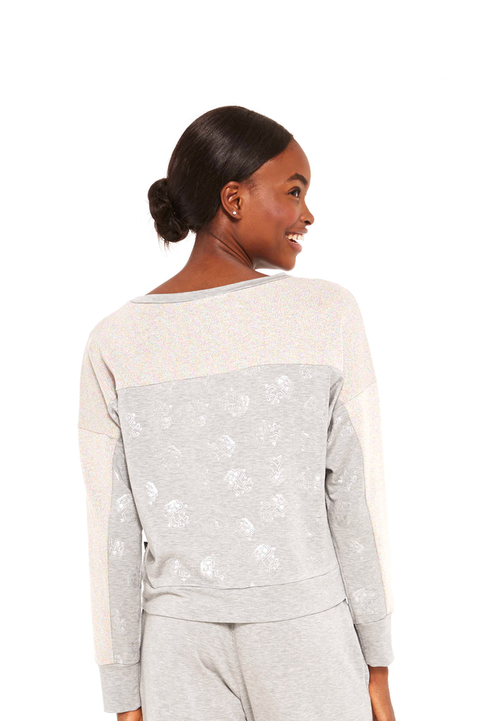 Keith Haring Lost in the Beat Shimmer Knit Crewneck by Terez