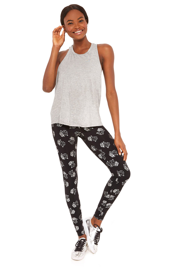 Keith Haring Lost in the Beat Foil Tall Band Leggings by Terez