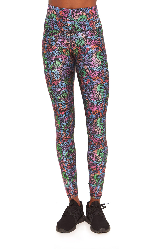 3bb0fa5793874 Keith Haring Rainbow Crowd High Rise Leggings by Terez ...