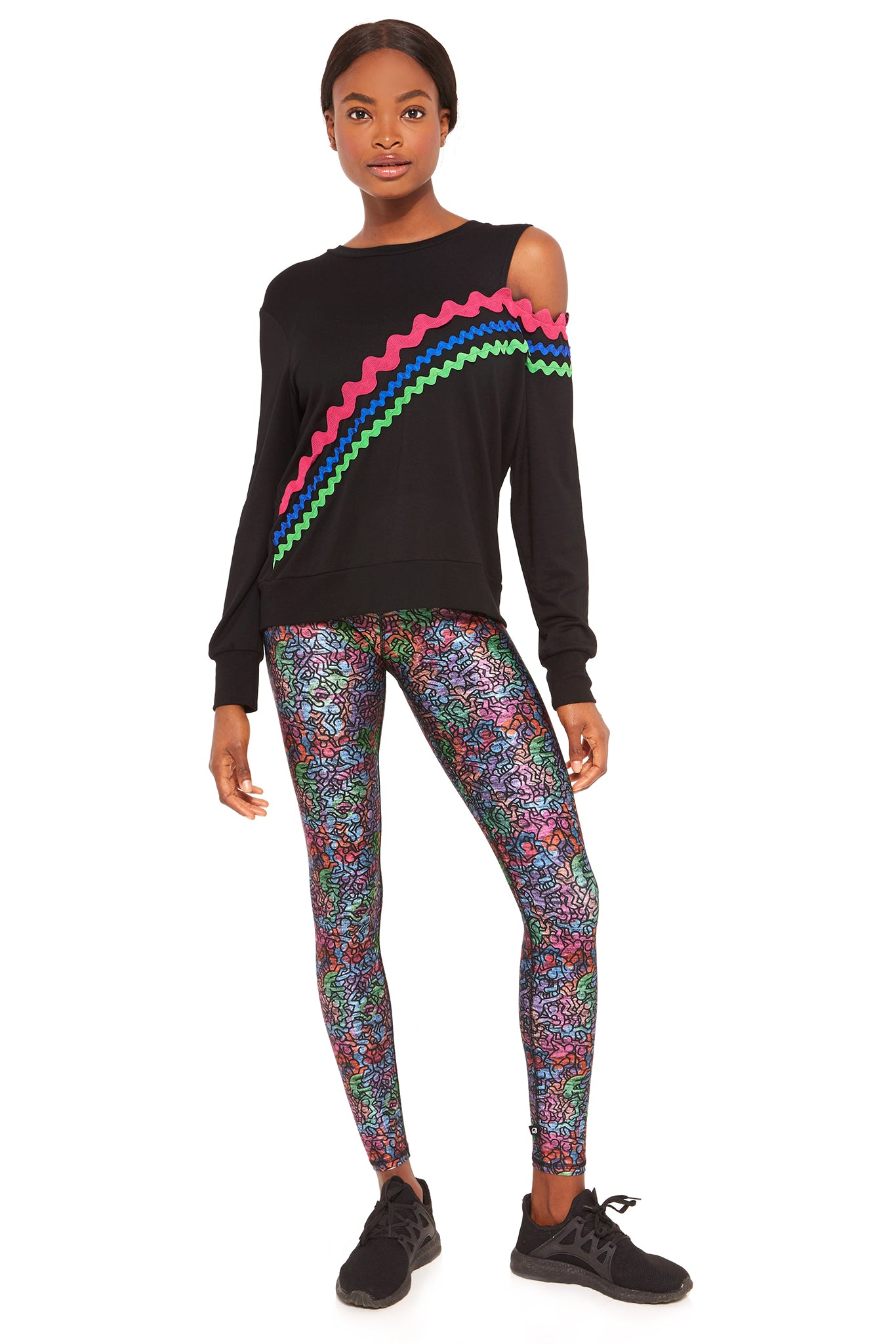 9a3cba4dfabe68 Keith Haring Rainbow Crowd High Rise Leggings by Terez