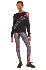 Keith Haring Rainbow Crowd High Rise Leggings by Terez