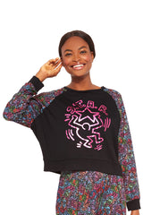 Keith Haring Star in the Crowd Foil Crewneck by Terez