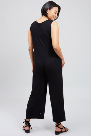 Ribbed Bump Squad Jumpsuit in Black