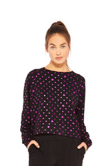 Mickey Mouse & Minnie Mouse Pink Polka Dot Foil Crewneck by Terez