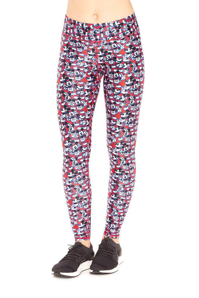 Mickey Mouse Says Thumbs Up Tall Band Leggings by Terez