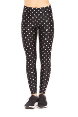 Mickey Mouse & Minnie Mouse Polka Dot Foil Tall Band Leggings by Terez
