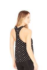 Mickey Mouse & Minnie Mouse Polka Dot Foil Racerback Tank by Terez