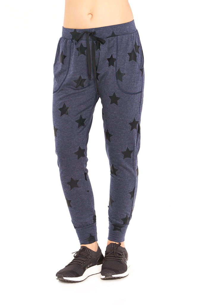 Navy Stars Foil Joggers by Terez
