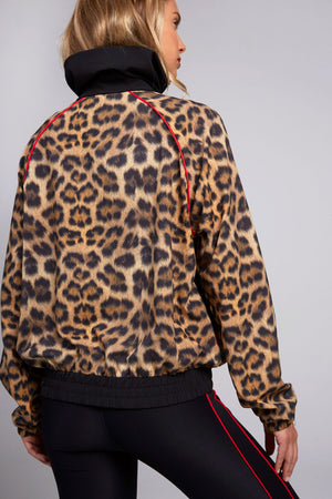 Leopard Goals Windbreaker