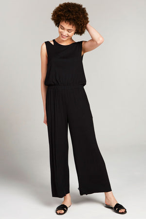 Black Rib Jumpsuit by Terez