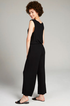 Rib Jumpsuit in Black