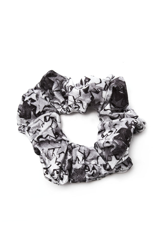 Silver Star Confetti Scrunchie by Terez