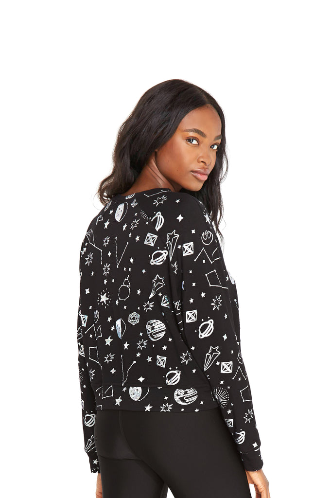 Star Wars Rebel Galaxy Hologram Foil Crewneck by Terez