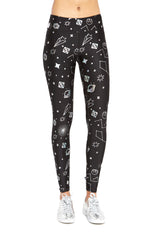 Star Wars Rebel Galaxy Hologram Foil Tall Band Leggings by Terez