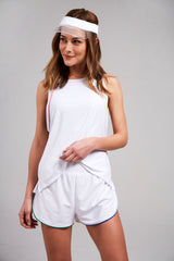 White Mesh Shorts by Terez