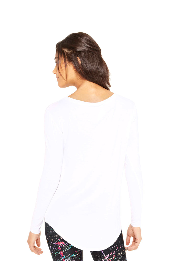 White Twist Front Long Sleeve by Terez
