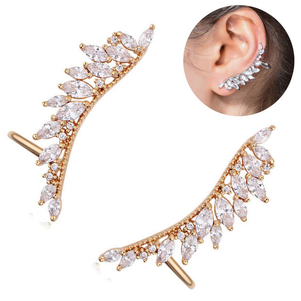 cc38567fa 1 Pair Women's Ear Cuffs Wrap Clip Wings Shape Earrings For Non-Pierced Ears