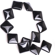 10-25mm Natural Diagonal Drilling Square Black Agates Beads For Jewelry Making Beads Bracelets 15'' Needlework DIY Beads Trinket