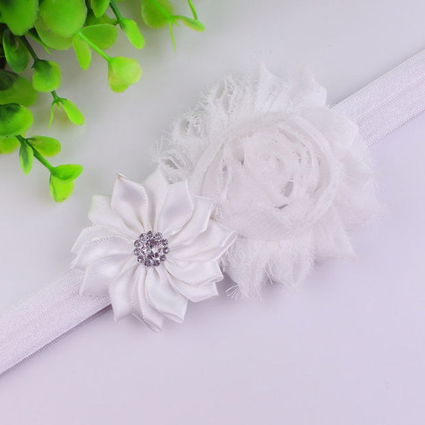 10 PCS Europe Style Cute Baby Multi-Color Flower Rhinestone Headband Hair Band Headdress Hair Accessories For Newborn BH