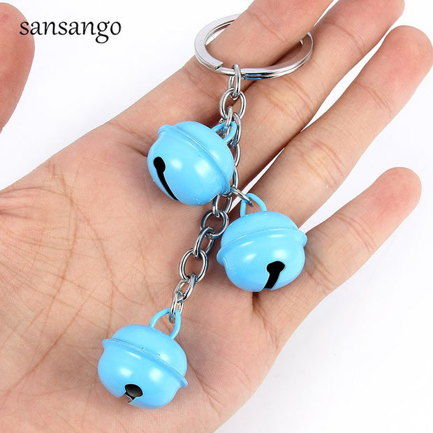 10 Pcs Random Color Bell Pendant Keychain Key Ring For Decorative Bag Car Key Fashion Jewelry Gift For Women Men Christmas