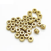 100 PCS 7mm*4mm Fashion Metal Raw Brass Spacer Beads 3mm Hole Beads Round Flat Beads DIY Beads For Jewelry Making