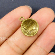 100pcs- Antique Bronze Plated Baseball Charms Pendant 18x14mm