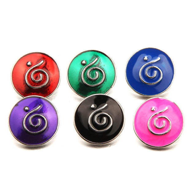 10pcs Wholesale 18mm Metal Snap Button Charm Round Ginger Button For Snap Fit DIY Snap Bracelets&Bangles Accessory MB18-53*10