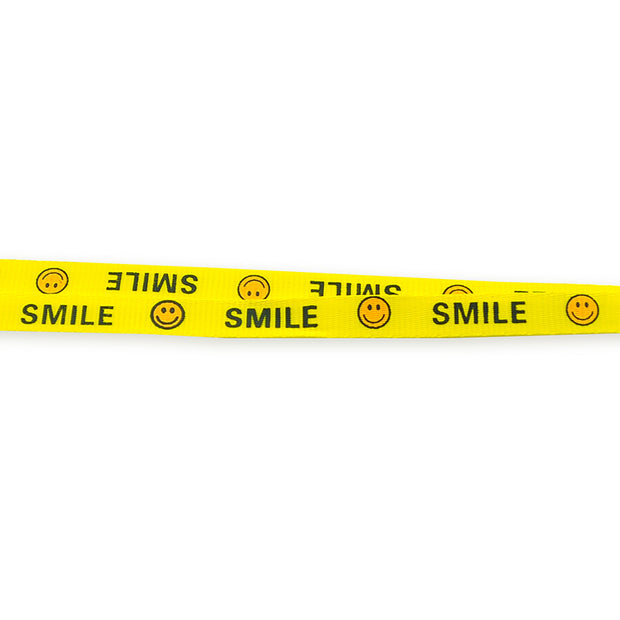 10pieces/lot Newest 0.8*46 Cm Smile Face Yellow Neck Lanyards Straps For ID Badge Holder Keychain Lanyards Mobile Phone Lanyard