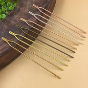125*2mm Copper Metal Y Shape Diy Long Hair Stick Needle Silver Fork Hair Stick Pin Rose Gold Hairstick Vintage Hairwear Jewelry
