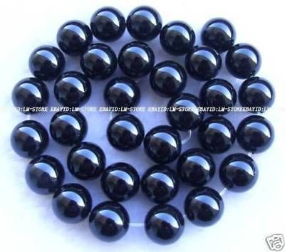12mm Black Onyx Round Loose Beads AAA Stone 15.5""